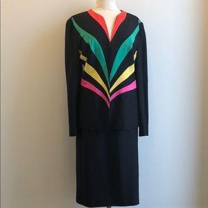 2b3af19484bde9 Vintage Lilli Ann Silk Women's 2 piece Suit